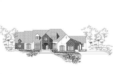 4-Bedroom, 4523 Sq Ft Spanish Home Plan - 156-1771 - Main Exterior