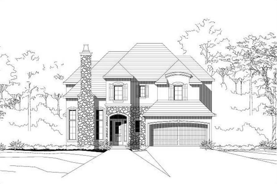 4-Bedroom, 3484 Sq Ft Country House Plan - 156-1773 - Front Exterior