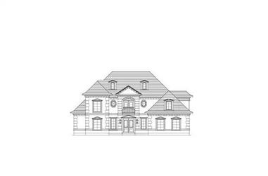 4-Bedroom, 4380 Sq Ft French Home Plan - 156-1777 - Main Exterior