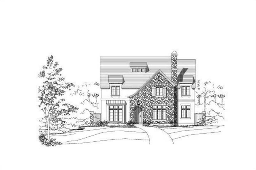 4-Bedroom, 5507 Sq Ft Country Home Plan - 156-1778 - Main Exterior