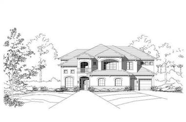 4-Bedroom, 4028 Sq Ft Luxury Home Plan - 156-1780 - Main Exterior