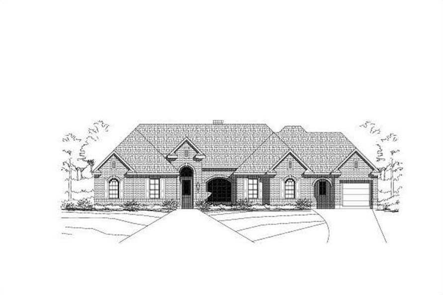 4-Bedroom, 3623 Sq Ft Luxury Home Plan - 156-1782 - Main Exterior