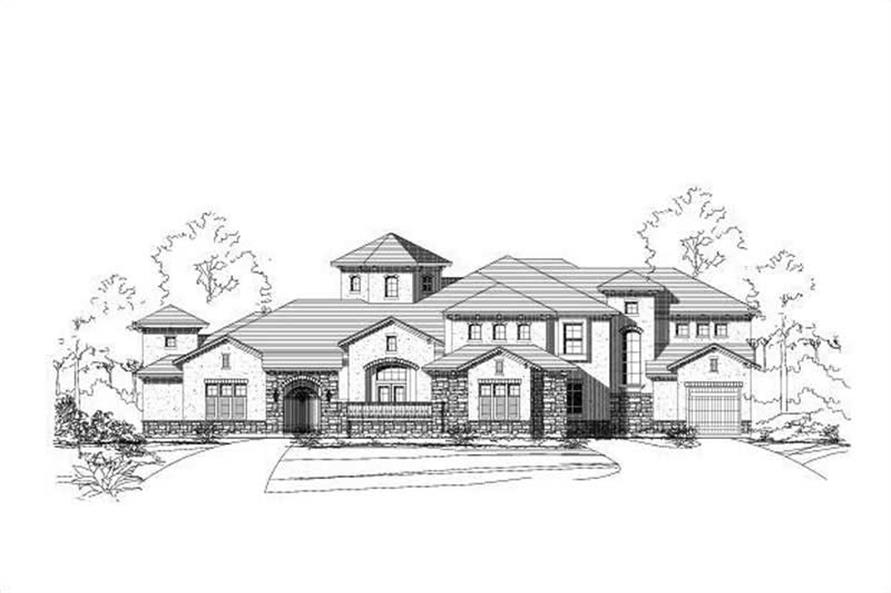5-Bedroom, 4594 Sq Ft Spanish Home Plan - 156-1783 - Main Exterior