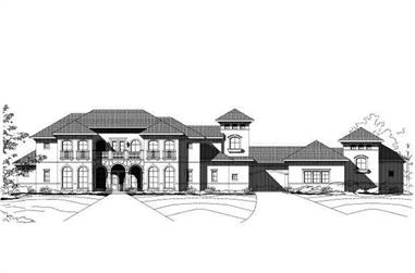 4-Bedroom, 4789 Sq Ft Mediterranean Home Plan - 156-1785 - Main Exterior