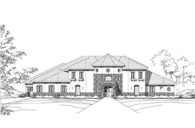 4-Bedroom, 5168 Sq Ft Spanish Home Plan - 156-1786 - Main Exterior