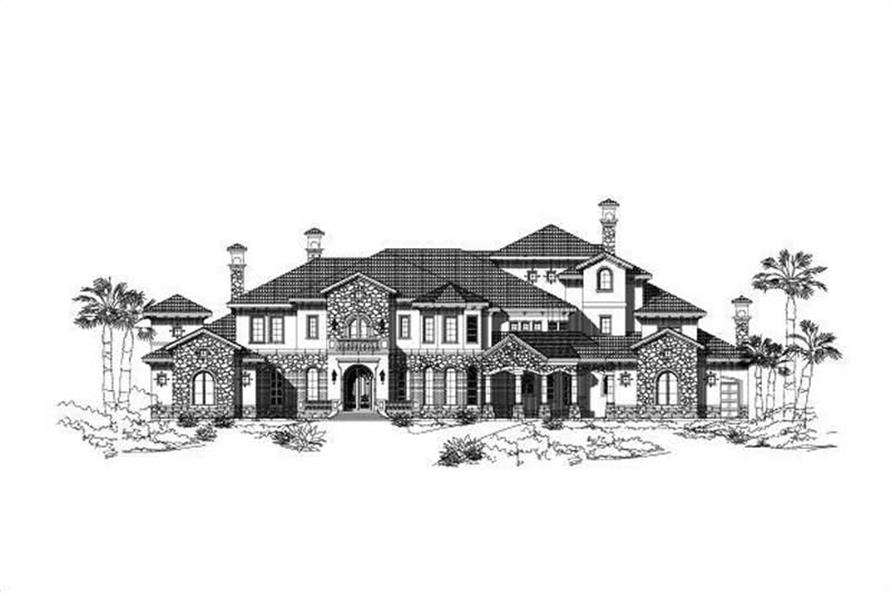 5-Bedroom, 9504 Sq Ft Spanish Home Plan - 156-1787 - Main Exterior
