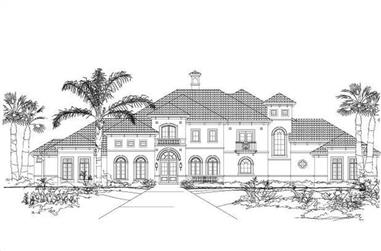 5-Bedroom, 7250 Sq Ft Mediterranean House Plan - 156-1789 - Front Exterior