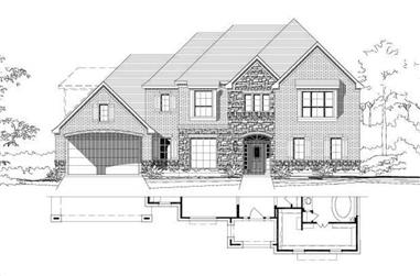 4-Bedroom, 4080 Sq Ft Luxury House Plan - 156-1790 - Front Exterior