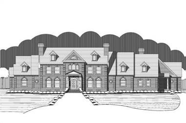 5-Bedroom, 7847 Sq Ft Luxury House Plan - 156-1791 - Front Exterior