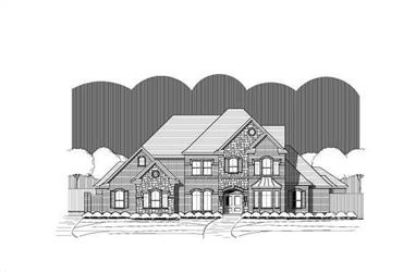 5-Bedroom, 4691 Sq Ft Country House Plan - 156-1793 - Front Exterior