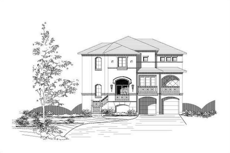 3-Bedroom, 3853 Sq Ft Coastal House Plan - 156-1794 - Front Exterior