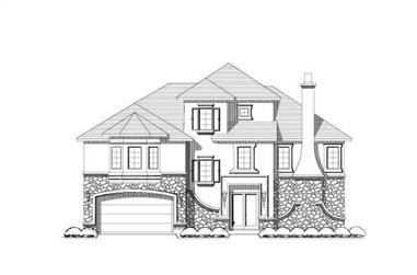 3-Bedroom, 4101 Sq Ft Luxury Home Plan - 156-1795 - Main Exterior