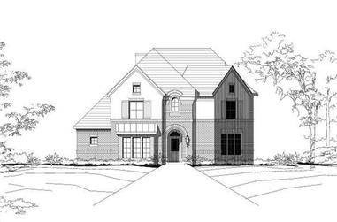 4-Bedroom, 3566 Sq Ft Luxury Home Plan - 156-1796 - Main Exterior