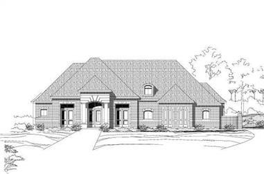 4-Bedroom, 4222 Sq Ft Luxury House Plan - 156-1797 - Front Exterior