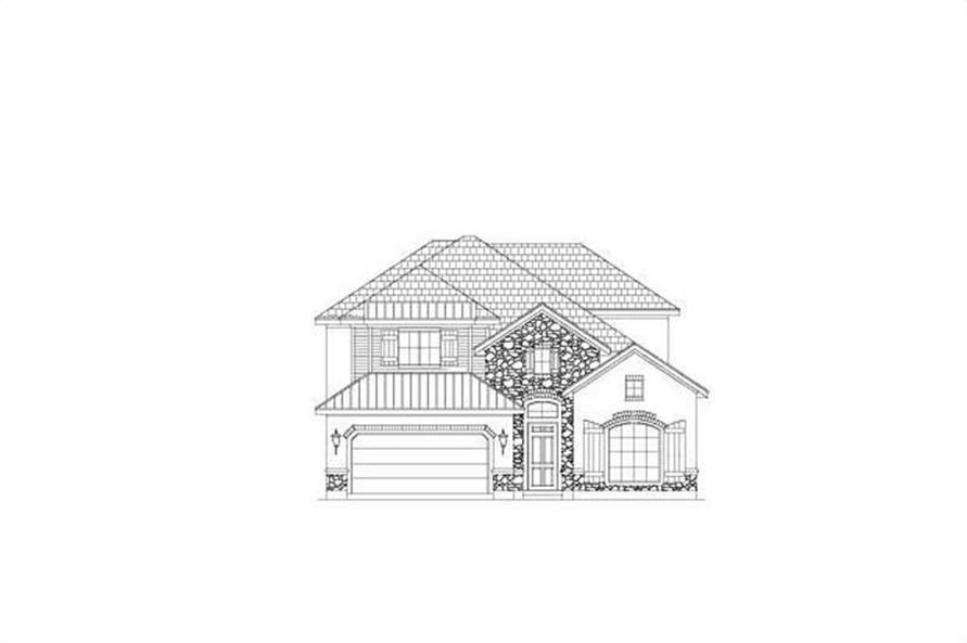 4-Bedroom, 3511 Sq Ft Spanish House Plan - 156-1798 - Front Exterior