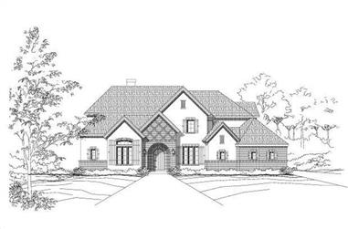 4-Bedroom, 4354 Sq Ft Country House Plan - 156-1799 - Front Exterior