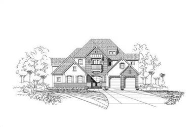 4-Bedroom, 4332 Sq Ft Country Home Plan - 156-1800 - Main Exterior