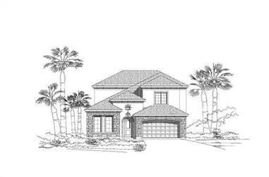 4-Bedroom, 3391 Sq Ft Spanish Home Plan - 156-1802 - Main Exterior