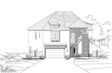 3-Bedroom, 4920 Sq Ft Luxury House Plan - 156-1803 - Front Exterior