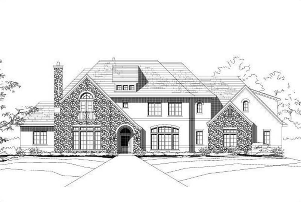 Front elevation of Traditional home (ThePlanCollection: House Plan #156-1804)
