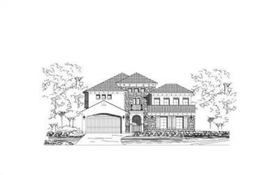 4-Bedroom, 4198 Sq Ft Spanish Home Plan - 156-1806 - Main Exterior