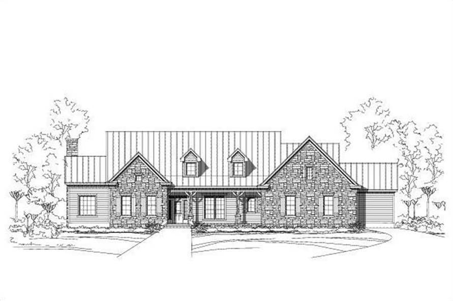 4-Bedroom, 3716 Sq Ft Country House Plan - 156-1807 - Front Exterior