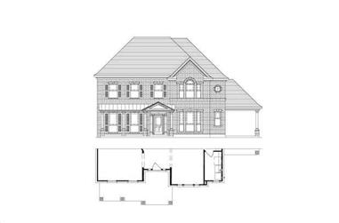 4-Bedroom, 3734 Sq Ft Luxury House Plan - 156-1808 - Front Exterior