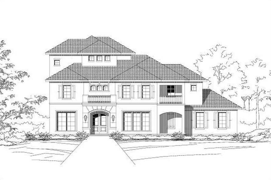 3-Bedroom, 3318 Sq Ft Spanish Home Plan - 156-1810 - Main Exterior