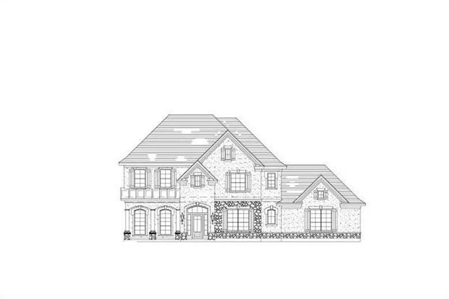 5-Bedroom, 4070 Sq Ft Country Home Plan - 156-1811 - Main Exterior