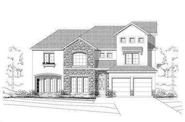 3-Bedroom, 3351 Sq Ft Spanish Home Plan - 156-1812 - Main Exterior