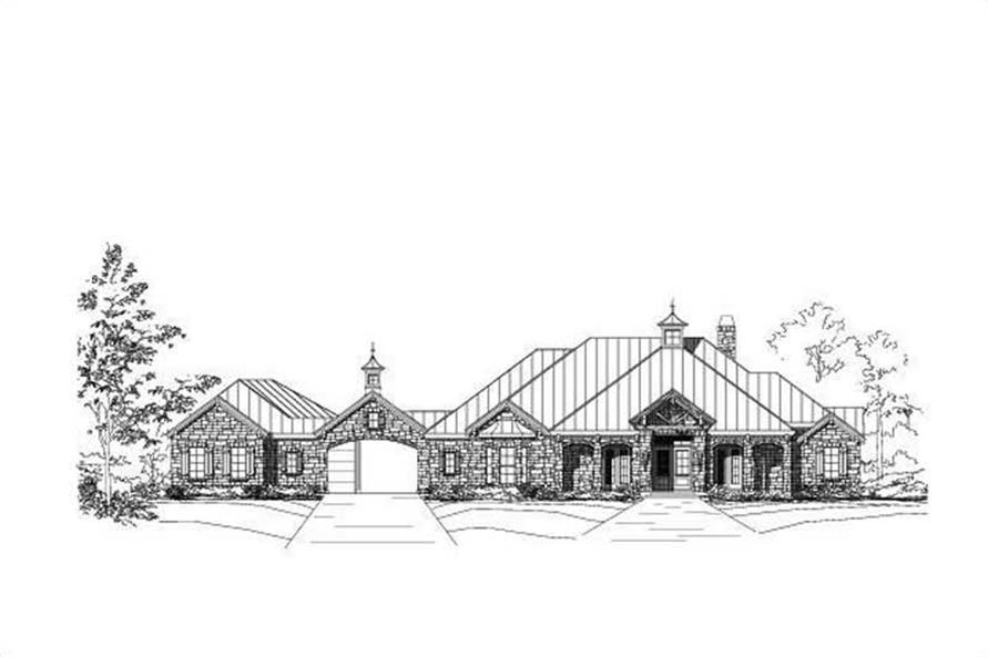 4-Bedroom, 4115 Sq Ft Spanish Home Plan - 156-1813 - Main Exterior