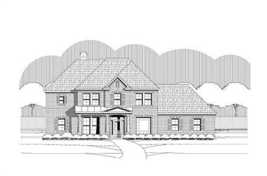 4-Bedroom, 3430 Sq Ft Luxury House Plan - 156-1815 - Front Exterior