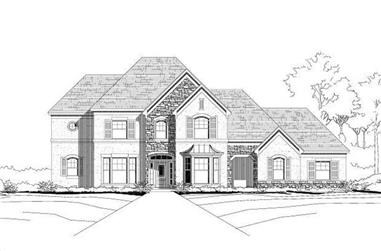 4-Bedroom, 3786 Sq Ft Country House Plan - 156-1817 - Front Exterior