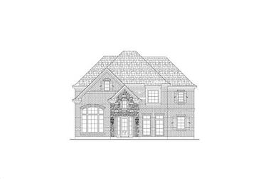 4-Bedroom, 3967 Sq Ft Country House Plan - 156-1819 - Front Exterior