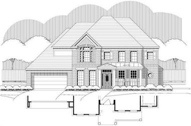 4-Bedroom, 3440 Sq Ft Luxury Home Plan - 156-1822 - Main Exterior