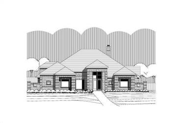 4-Bedroom, 3780 Sq Ft Contemporary House Plan - 156-1823 - Front Exterior