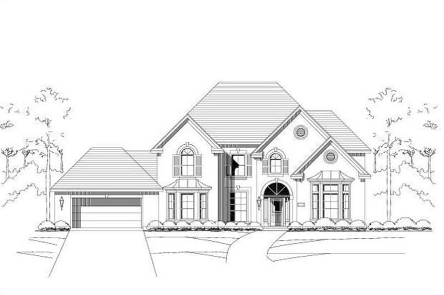 5-Bedroom, 4233 Sq Ft Luxury House Plan - 156-1824 - Front Exterior