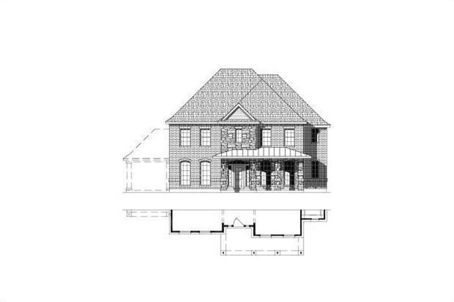 4-Bedroom, 3674 Sq Ft Luxury House Plan - 156-1825 - Front Exterior