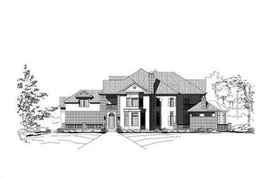 5-Bedroom, 7060 Sq Ft Contemporary House Plan - 156-1826 - Front Exterior