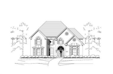 5-Bedroom, 4233 Sq Ft Luxury House Plan - 156-1827 - Front Exterior