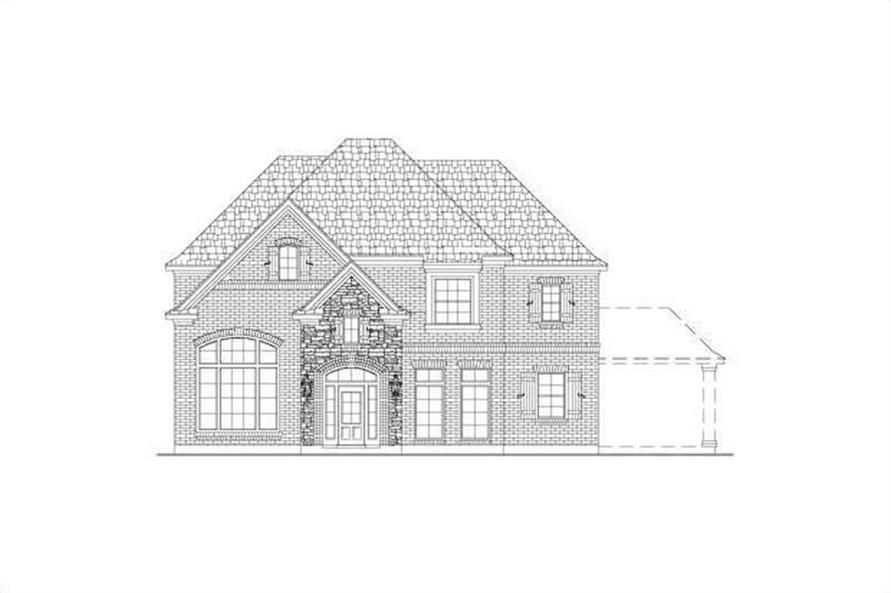 4-Bedroom, 3967 Sq Ft Country House Plan - 156-1830 - Front Exterior