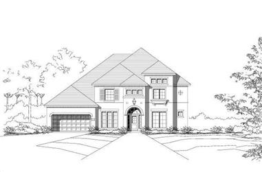 4-Bedroom, 4001 Sq Ft Luxury House Plan - 156-1831 - Front Exterior