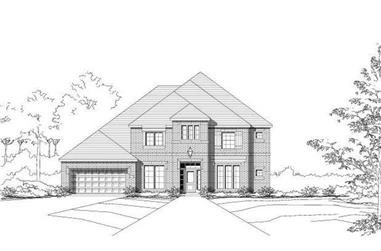 4-Bedroom, 4133 Sq Ft Luxury House Plan - 156-1832 - Front Exterior