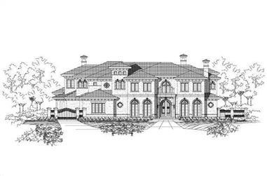 6-Bedroom, 9579 Sq Ft Mediterranean Home Plan - 156-1833 - Main Exterior