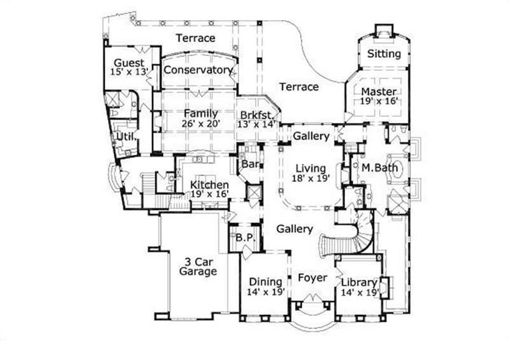 HOME PLAN NUMBER 776 FIRST STORY FLOOR PLAN