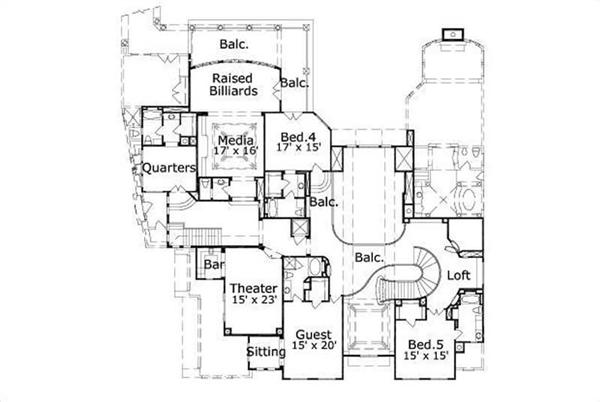 HOME PLAN NUMBER 776 SECOND STORY FLOOR PLAN