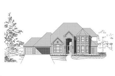 4-Bedroom, 3735 Sq Ft Luxury Home Plan - 156-1834 - Main Exterior