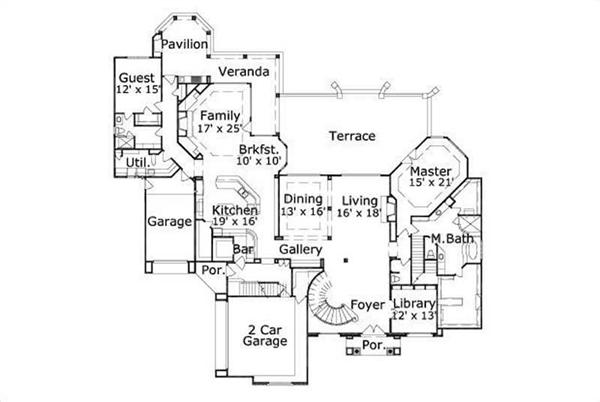 HOME PLAN NUMBER 91 FIRST STORY FLOOR PLAN