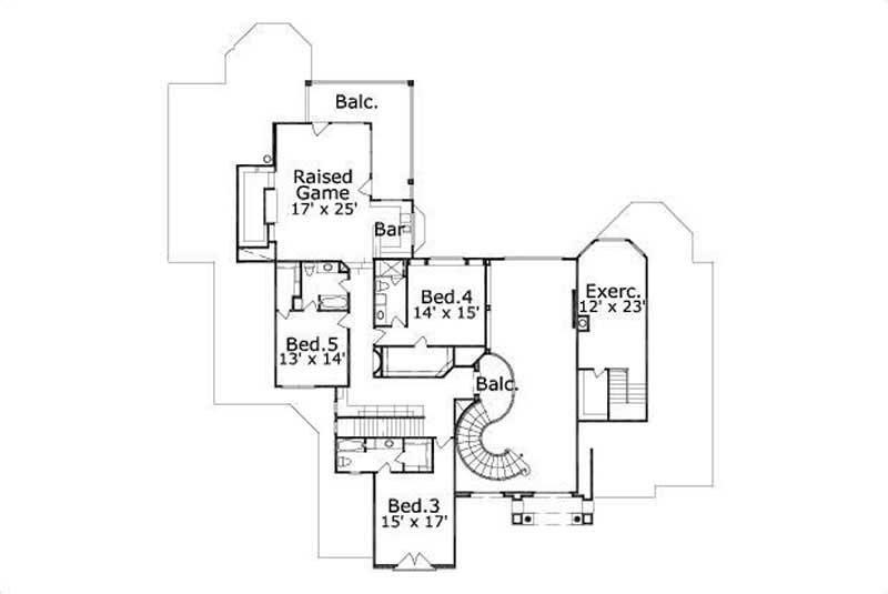 HOME PLAN NUMBER 91 SECOND STORY FLOOR PLAN