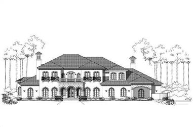 4-Bedroom, 7651 Sq Ft Mediterranean House Plan - 156-1837 - Front Exterior